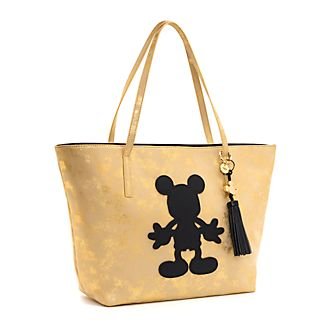 Disney Store Mickey Mouse Black and Gold Tote Bag