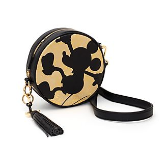 Disney Store Mickey Mouse Black and Gold Handbag