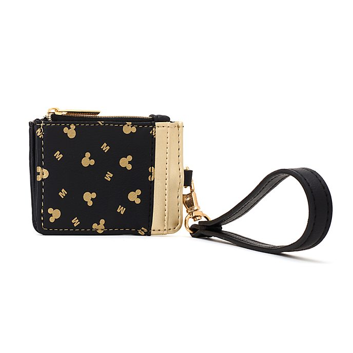 Disney Store Mickey Mouse Black and Gold Coin and Card Case