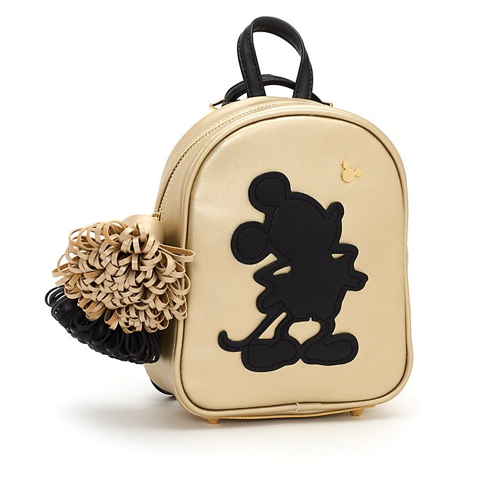 Disney Store Mickey Mouse Black and Gold Small Backpack