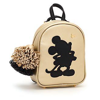 Mochila negra y dorada Mickey Mouse pequeña, Disney Store