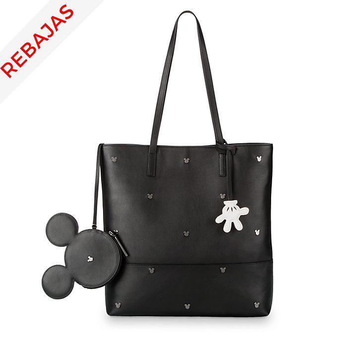 Bolso mano cuero Mickey Mouse, Disney Store