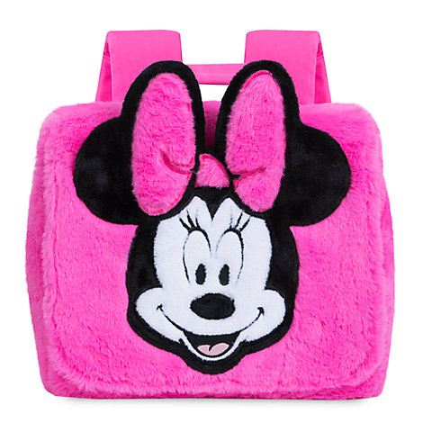 Disney Store Minnie Mouse Fluffy Backpack
