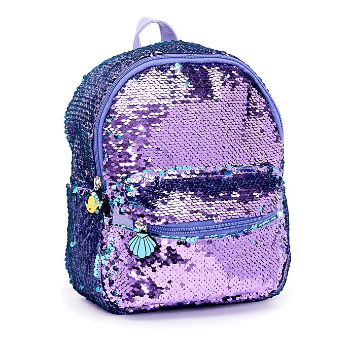 4a44e9f7262 Disney Store The Little Mermaid Reversible Sequin Backpack
