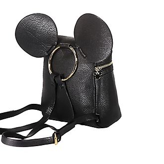Typo Mickey Mouse Black Mini Backpack