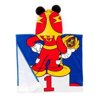 Toalla con capucha infantil de Mickey Mouse piloto de carreras