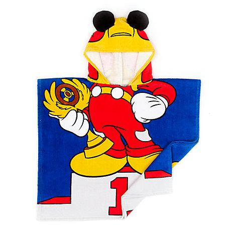Mickey Mouse Roadster Racers håndklæde med hætte til børn