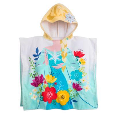 Serviette à capuche Elsa pour enfants, La Reine des Neiges