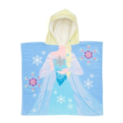 Serviette à capuche Elsa pour enfants
