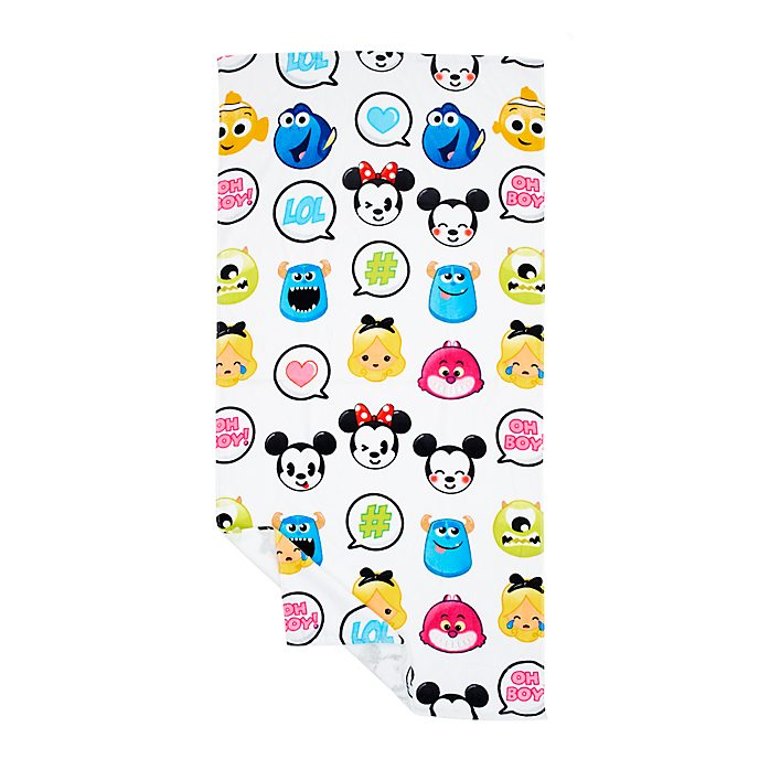 Disney Store World of Disney Emoji Beach Towel