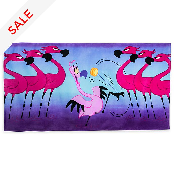 Disney Store Yo Yo Flamingo Beach Towel, Fantasia 2000