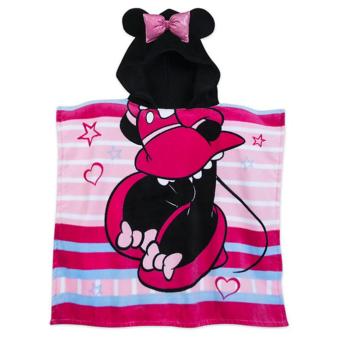 Disney Store Serviette à capuche Minnie Mouse pour enfants