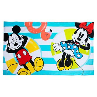 Toalla de playa Mickey y Minnie, Disney Store