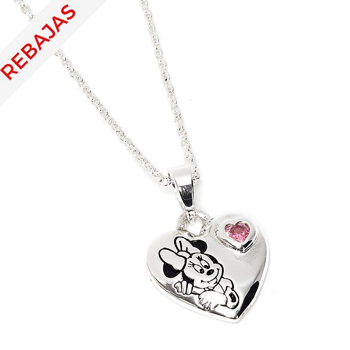 Collar bañado en plata corazón Minnie Mouse, Disney Store