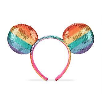 Diadema con orejas Mickey Mouse, Rainbow Disney, para adultos, Disney Store