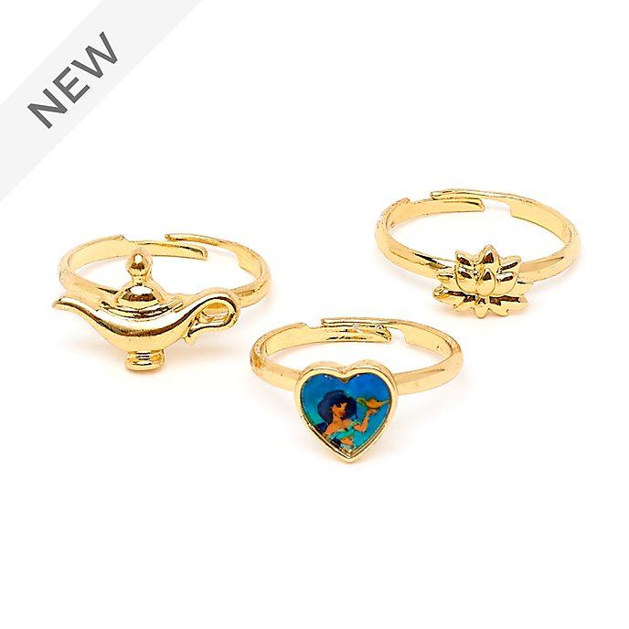 Disney Store Princess Jasmine Rings, Set of 3