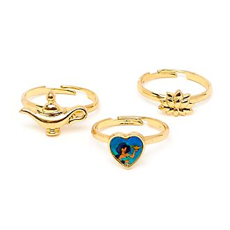 Anelli Principessa Jasmine Disney Store, set di 3