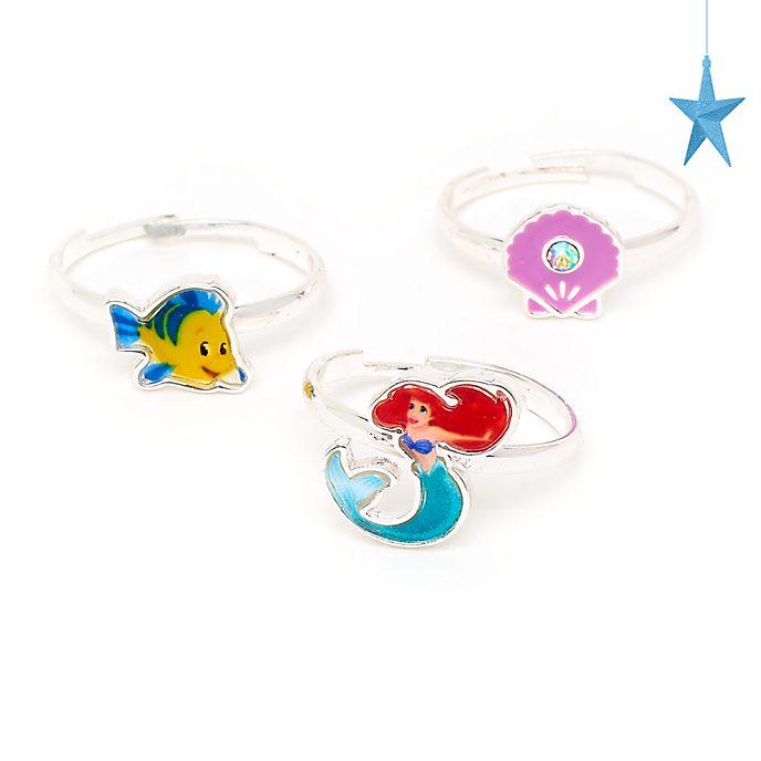 Disney Store - Arielle, die Meerjungfrau - Ringe, 3-teiliges Set