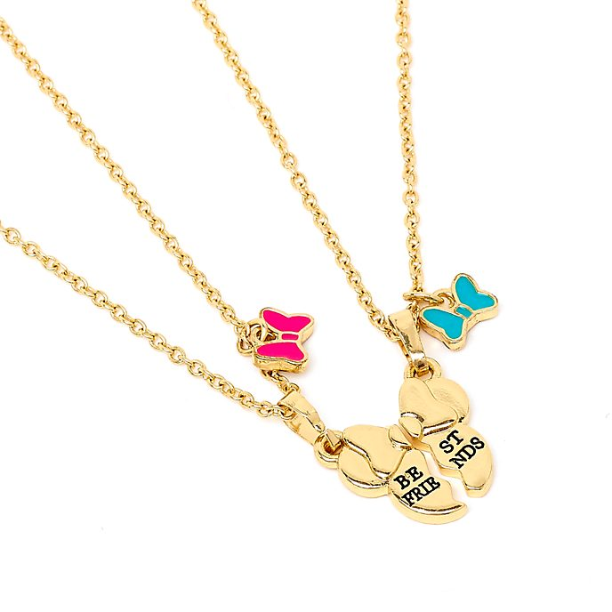 Disney Store Minnie Mouse Friendship Necklace Set