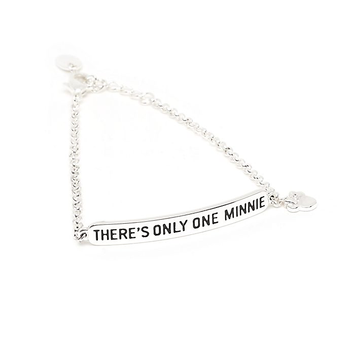 Disney Store Minnie Mouse Silver-Plated Quote Bracelet