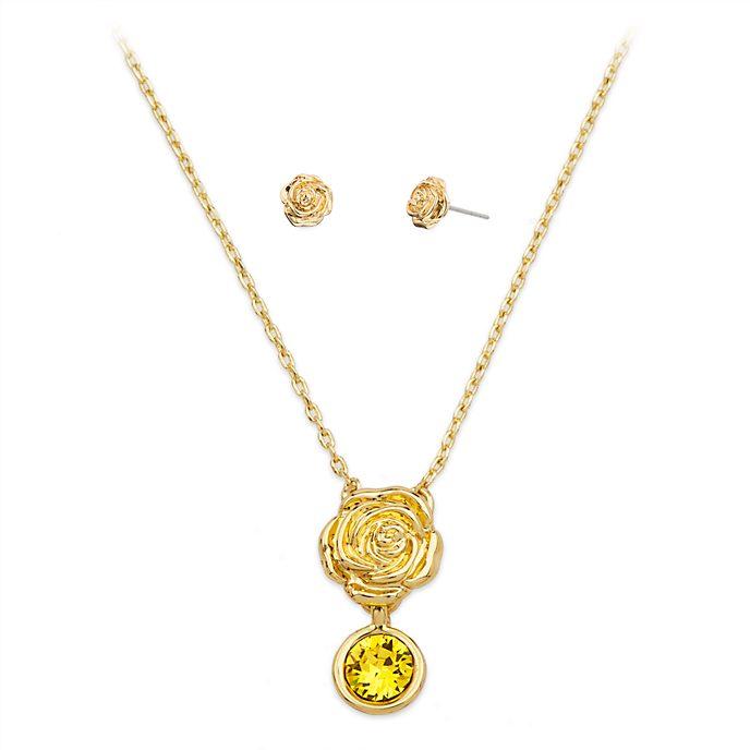 Disney Store - Belle - Set aus Halskette und Ohrringen