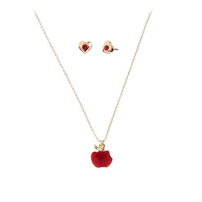 Disney Store Snow White Necklace and Earrings Set