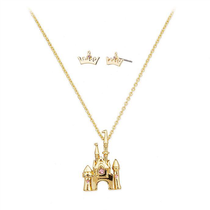Disney Store Parure collier et boucles d'oreilles Aurore, La Belle au Bois Dormant