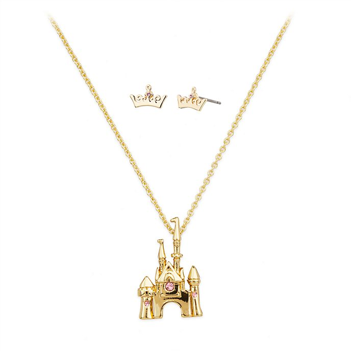 Disney Store Aurora Necklace and Earrings Set, Sleeping Beauty