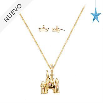 Conjunto collar y pendientes Aurora, La Bella Durmiente, Disney Store