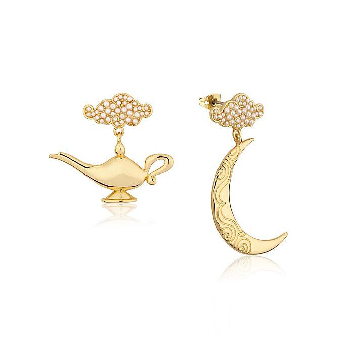Couture Kingdom - Vergoldete Ohrringe mit Wunderlampenmotiv - Aladdin