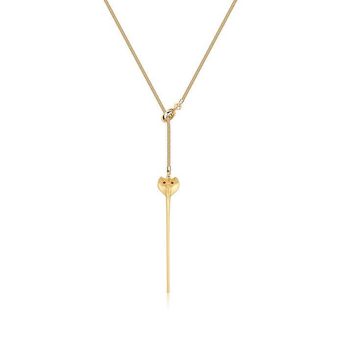 Collar bañado en oro bastón de serpiente de Yafar Aladdín, Couture Kingdom