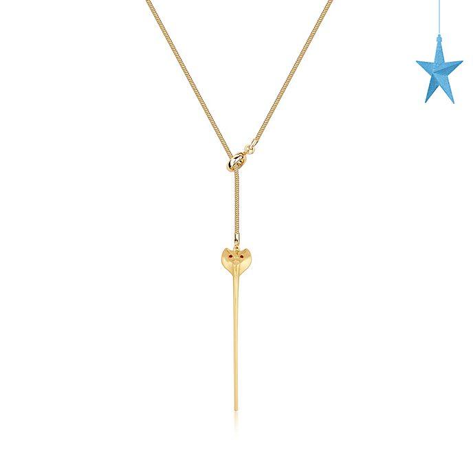 Collana placcata oro scettro di Jafar, Aladdin Couture Kingdom