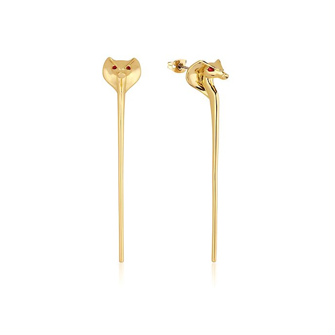 Couture Kingdom Jafar Snake Staff Gold-Plated Earrings, Aladdin