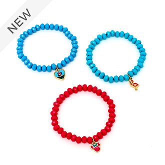 Disney Store Minnie Mouse Stretch Bracelets, Set of 3