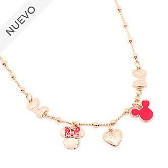 Collar abalorios bañado en oro rosa Mickey y Minnie, Disney Store