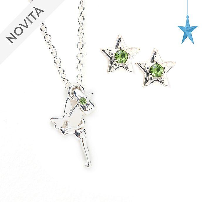 Set collana e orecchini placcati in argento Trilli Disney Store