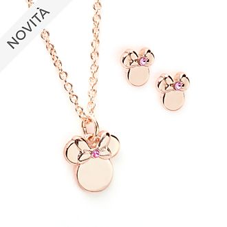 Set collana e orecchini placcati oro rosa Minni Disney Store