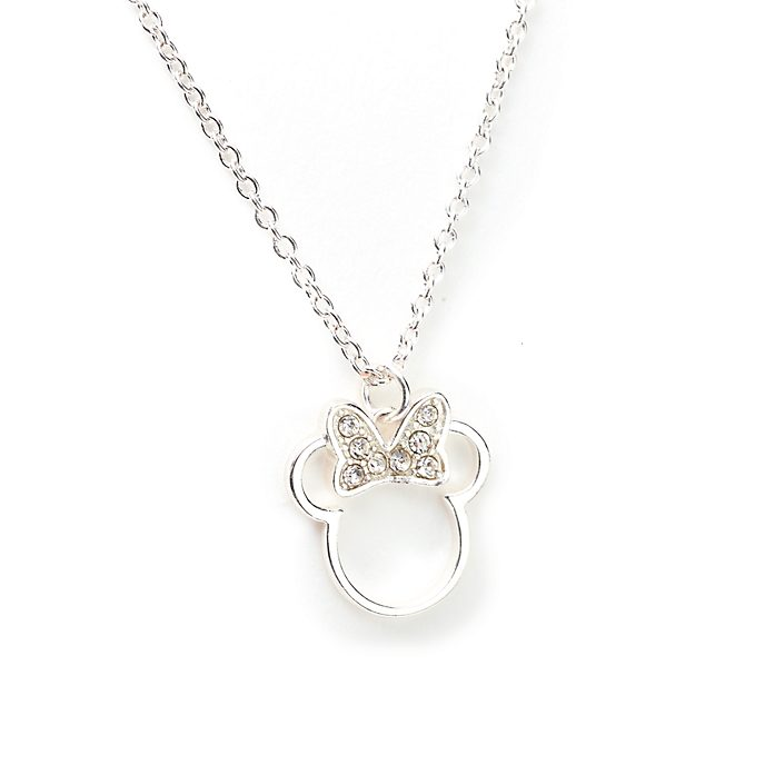 Disney Store Minnie Mouse Silver-Plated Necklace