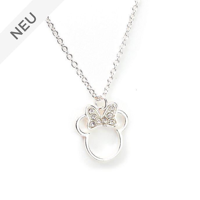 Disney Store - Minnie Maus - Versilberte Halskette mit Anhänger