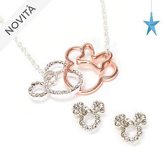 Set di gioielli placcato in oro rosa e argento Topolino e Minni Disney Store