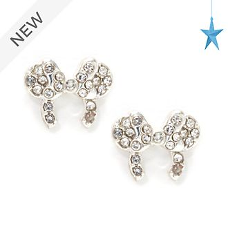 Disney Store Minnie Mouse Ears Headband Silver-Plated Stud Earrings