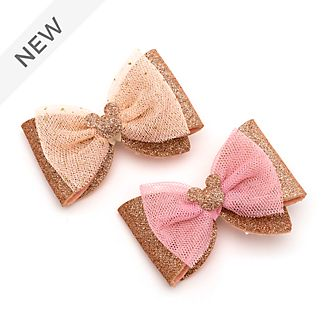 Disney Store Mickey Mouse Rose Gold Hair Clips, Pack of 2