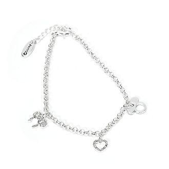 Bracciale con charm placcato in argento Topolino e Minni Disney Store