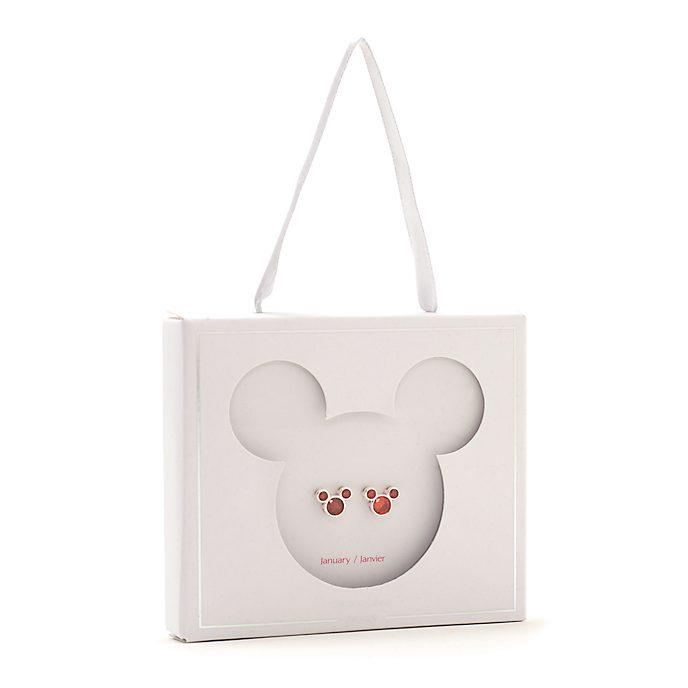 Disney Store Mickey Mouse January Birthstone Stud Earrings