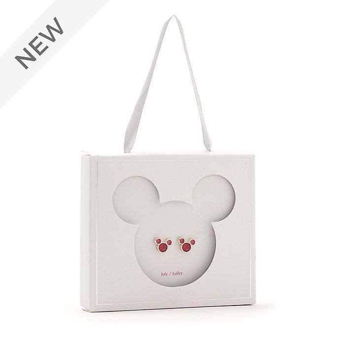 Disney Store Mickey Mouse July Birthstone Stud Earrings