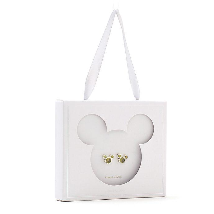 Disney Store Clous d'oreilles Mickey avec pierre d'août