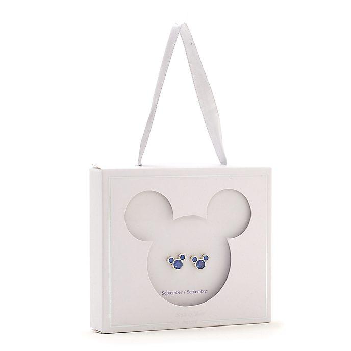 Disney Store Clous d'oreilles Mickey avec pierre de septembre