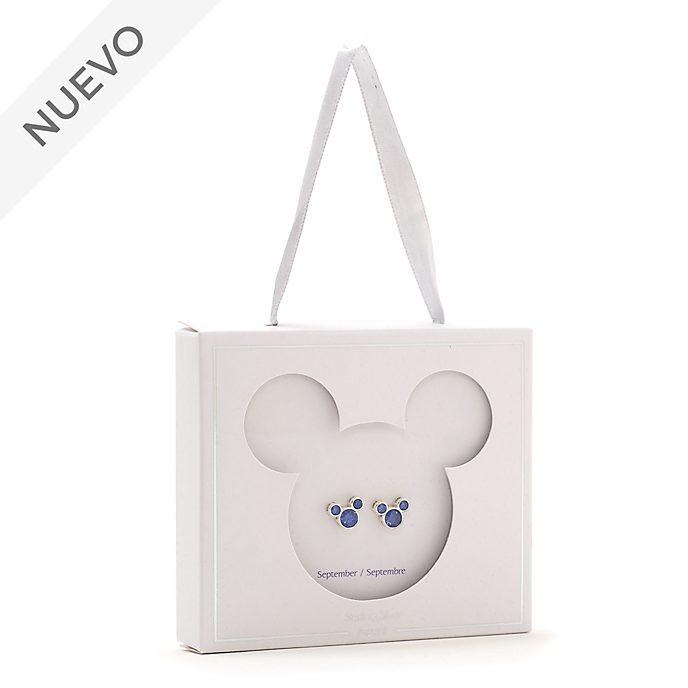Pendientes de botón piedra natalicia, septiembre, Mickey Mouse, Disney Store