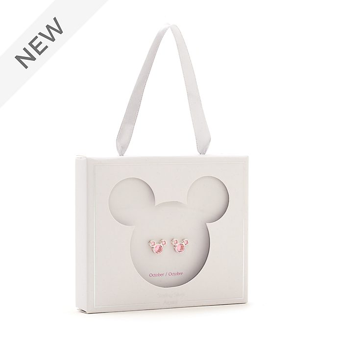 Disney Store Mickey Mouse October Birthstone Stud Earrings