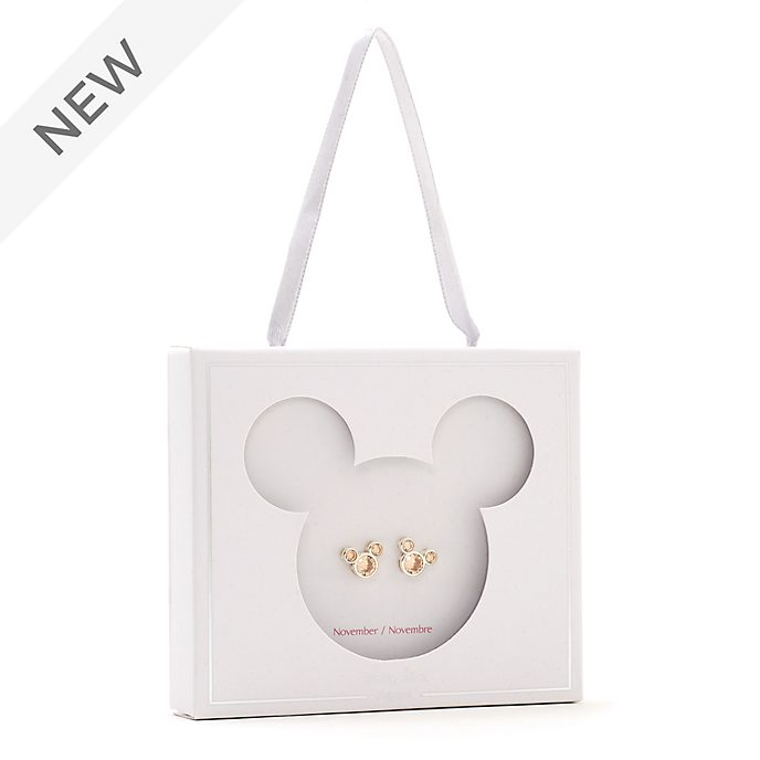 Disney Store Mickey Mouse November Birthstone Stud Earrings